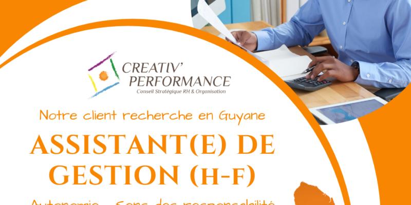 Assistant(e) de gestion Guyane